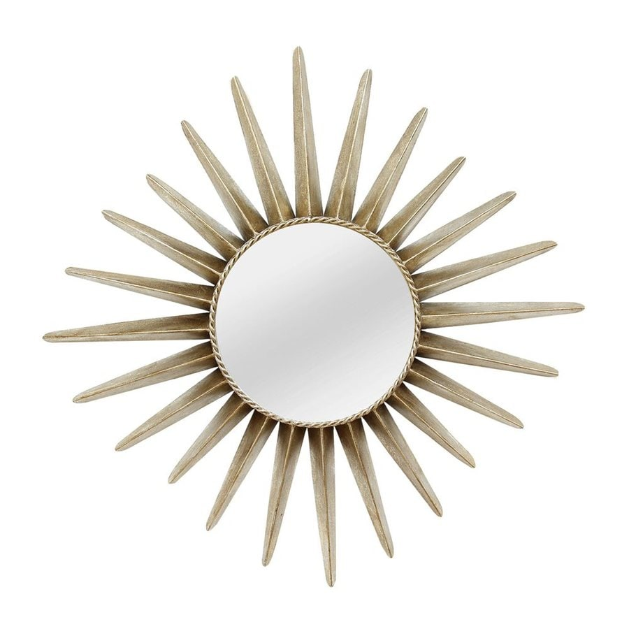 Stratton Home Decor Charlotte Bronze Polished Round Wall Mirror
