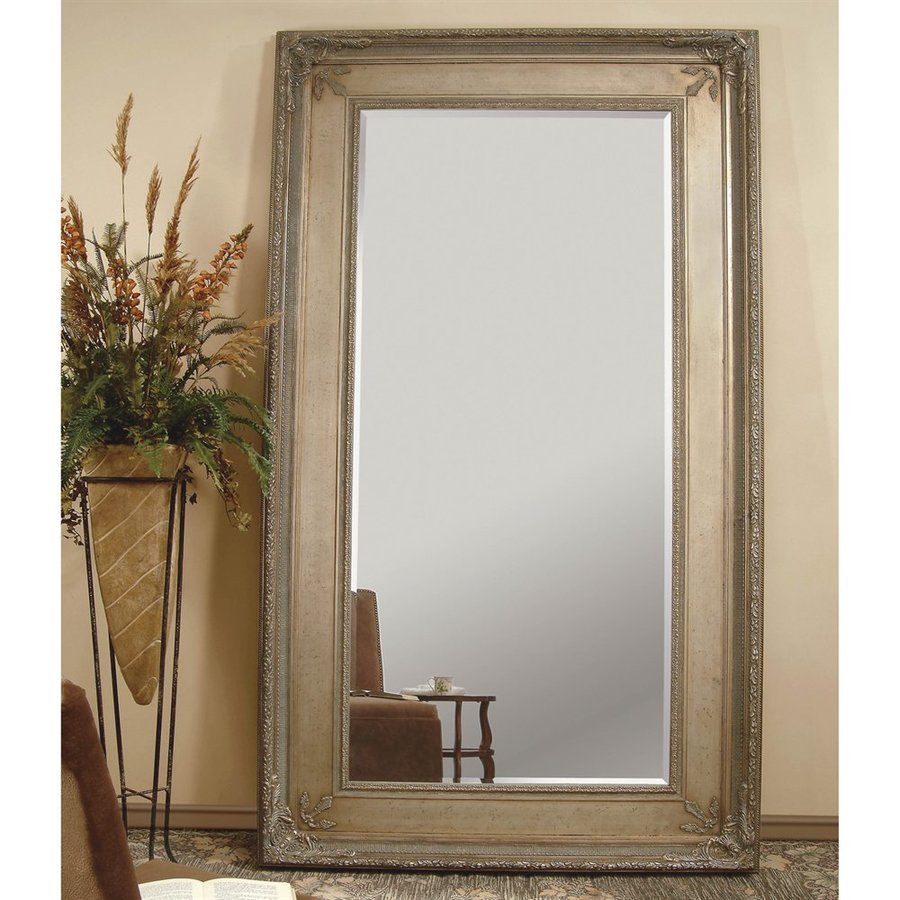Shop Bassett Mirror Company Prazzo 91-in L x 55-in W Antique Silver ...