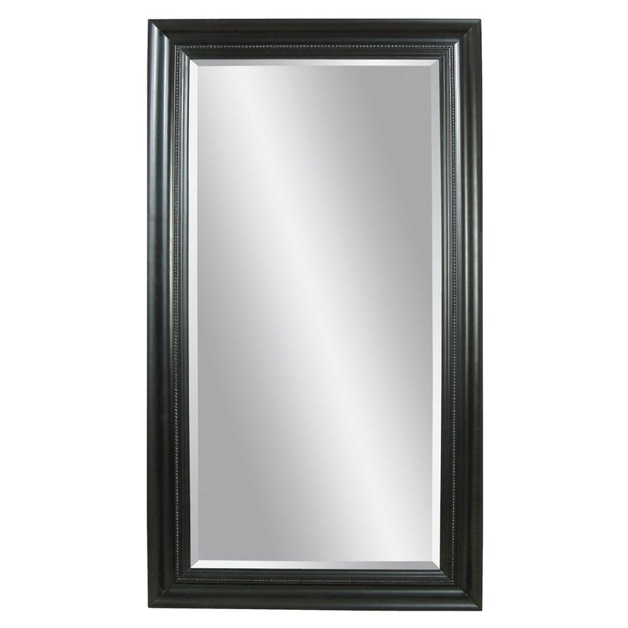 Shop bassett mirror company kingston ebony beveled floor for Floor mirror