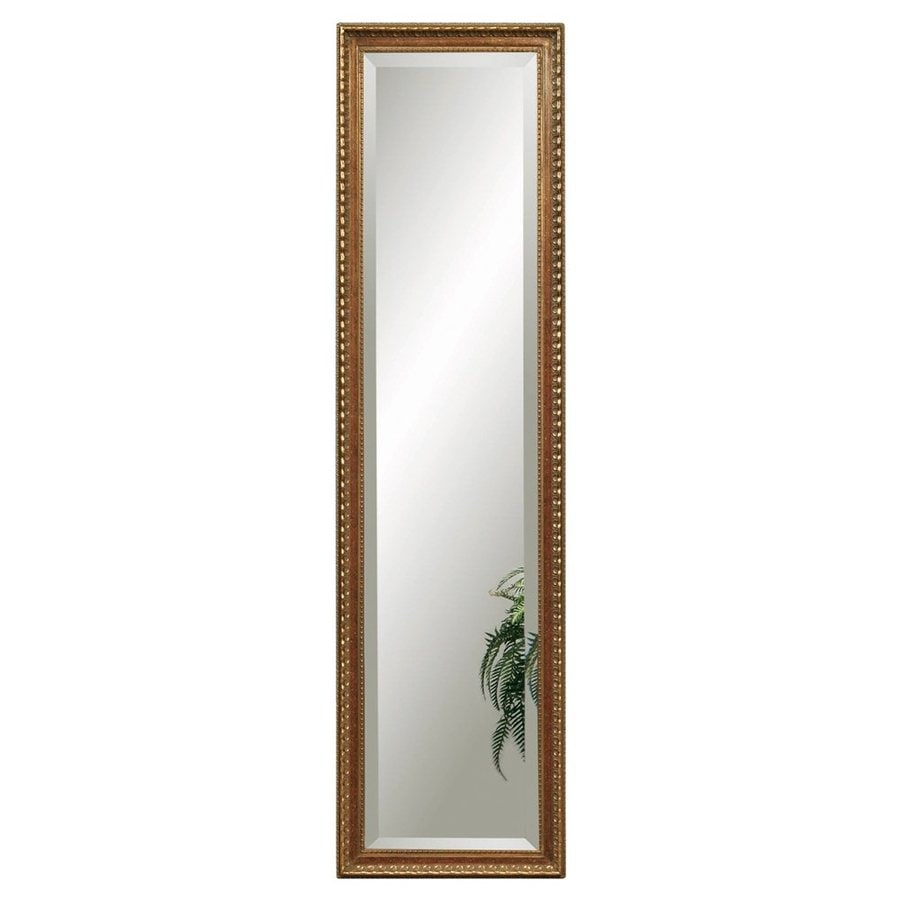 Bassett Mirror Company Arabella 17-in x 63-in Antique Gold Beveled Rectangle Framed Traditional Floor Mirror