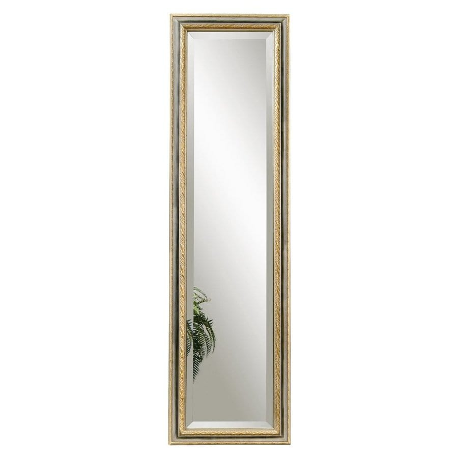 Bassett Mirror Company Regis 18-in x 64-in Silver/Gold Beveled Rectangle Framed Traditional Floor Mirror