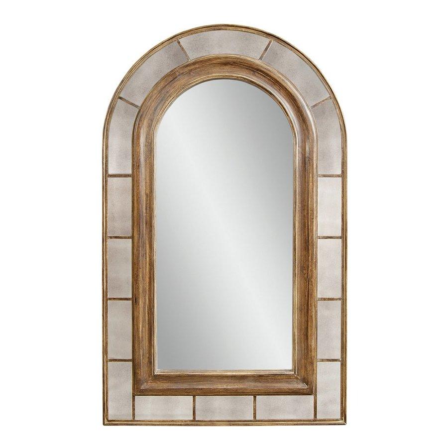 Bassett Mirror Company Clark 54-in x 88-in Rustic Bronze Arch Framed Traditional Floor Mirror