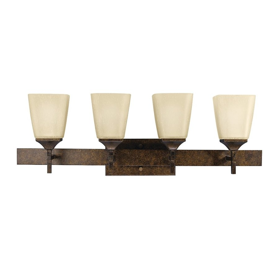 Kichler Souldern 4-Light 9.5-in Marbled Bronze Bell Vanity Light