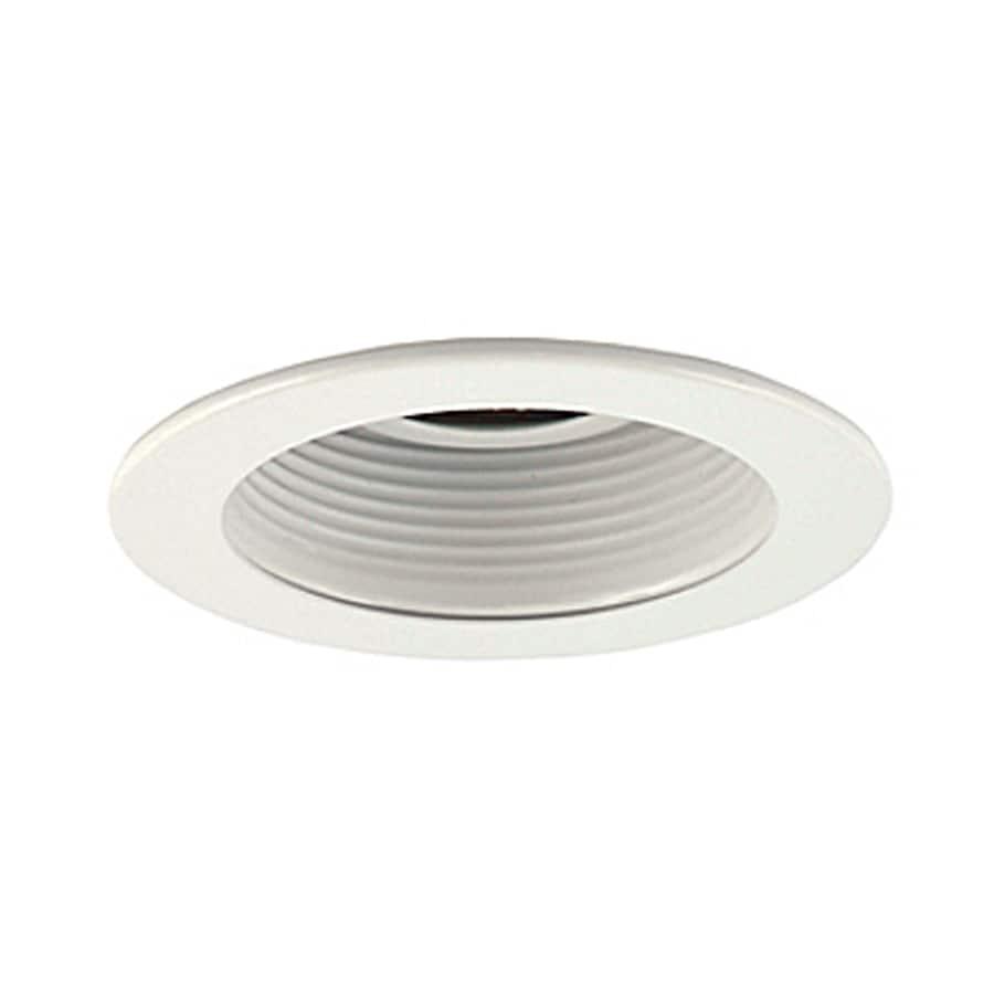 JESCO White Baffle Recessed Light Trim (Fits Housing Diameter: 3-in)
