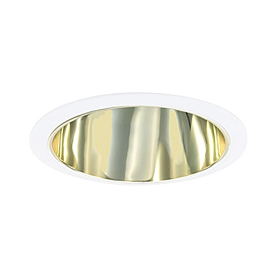 JESCO Polished Brass Reflector Recessed Light Trim (Fits Housing Diameter: 6-in)