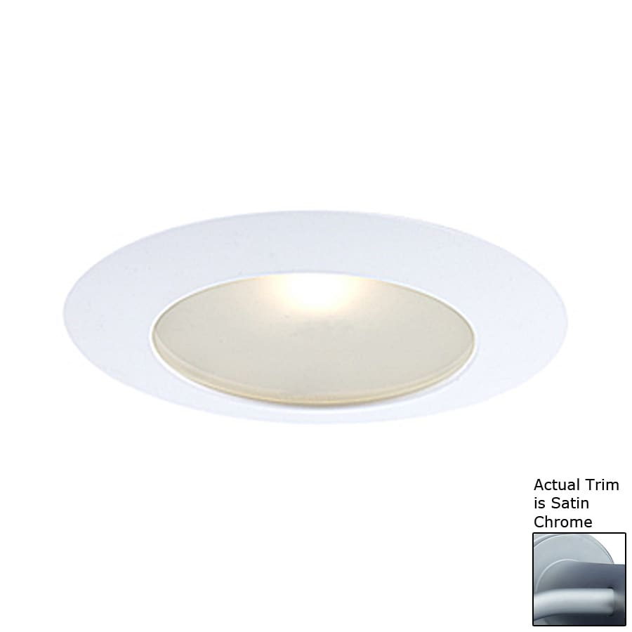 JESCO Satin Chrome Shower Recessed Light Trim (Fits Housing Diameter: 6-in)