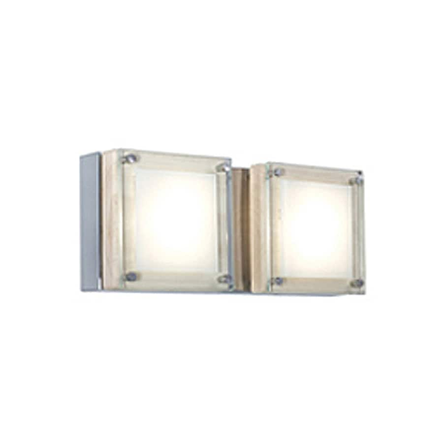 JESCO Quattro 11-in W 2-Light Birch Wall Wash Wall Sconce