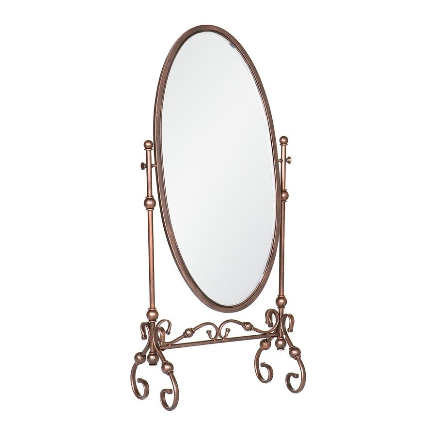 Boston Loft Furnishings Tunis 24-in x 56.75-in Antique Bronze Oval Framed Traditional Floor Mirror