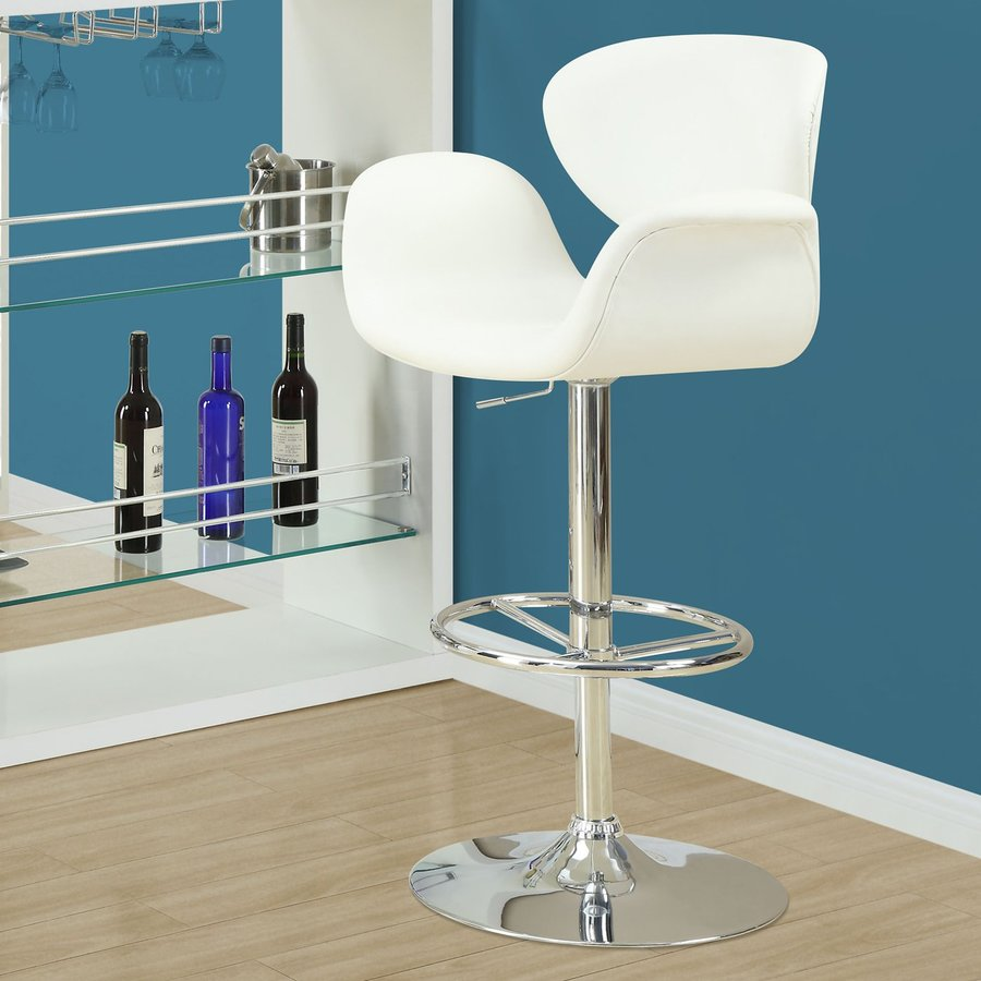 Monarch Specialties White Bar Stool