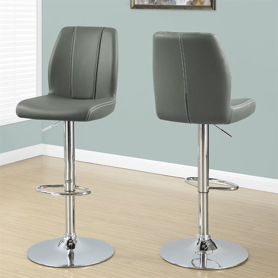 Monarch Specialties Set of 2 Chrome 30-in Bar Stool