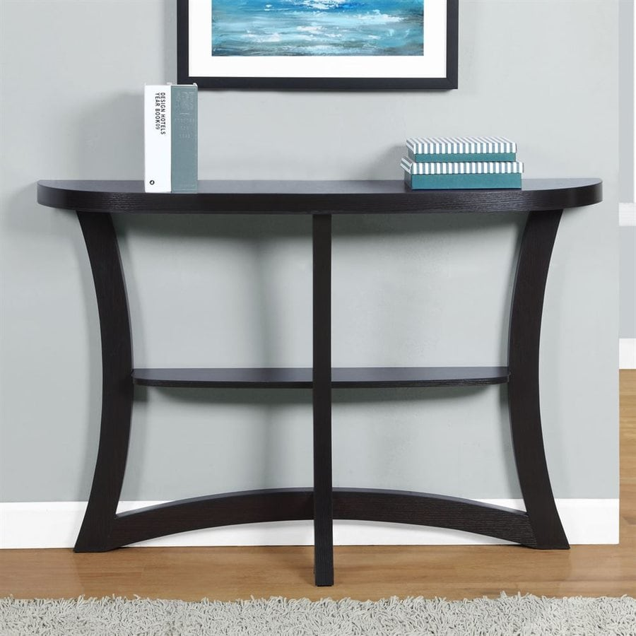 Shop Monarch Specialties Cappuccino Rubberwood Console Table At