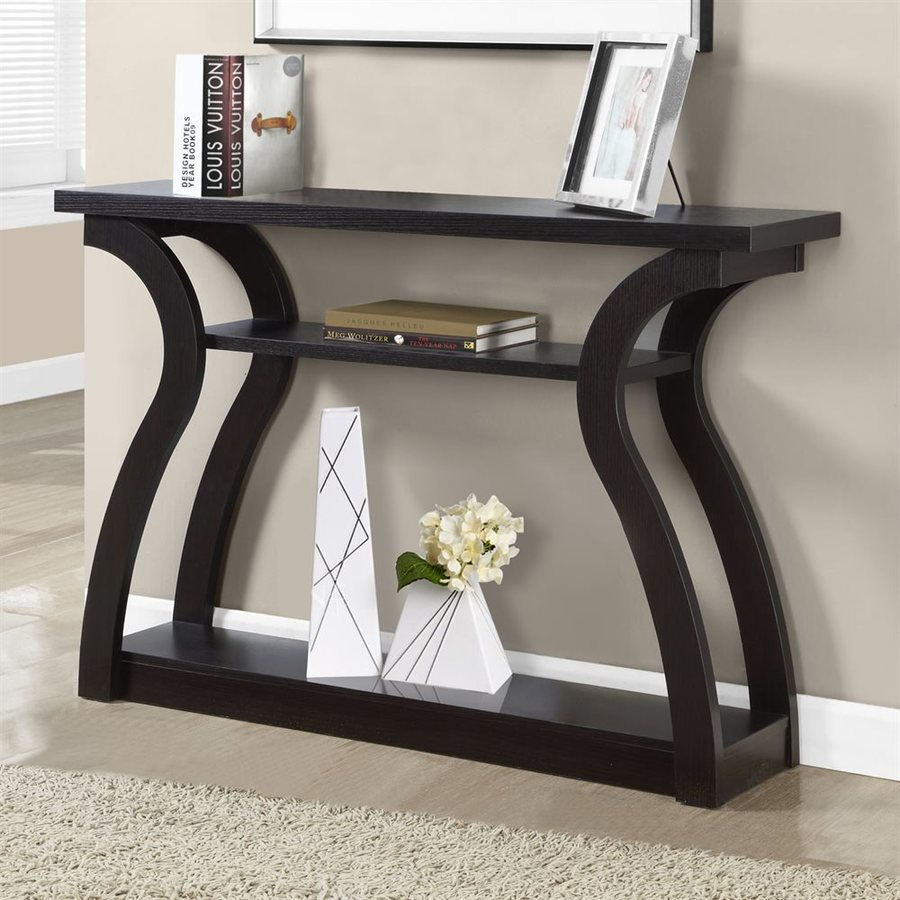 Monarch Specialties Cappuccino Rectangular Console Table