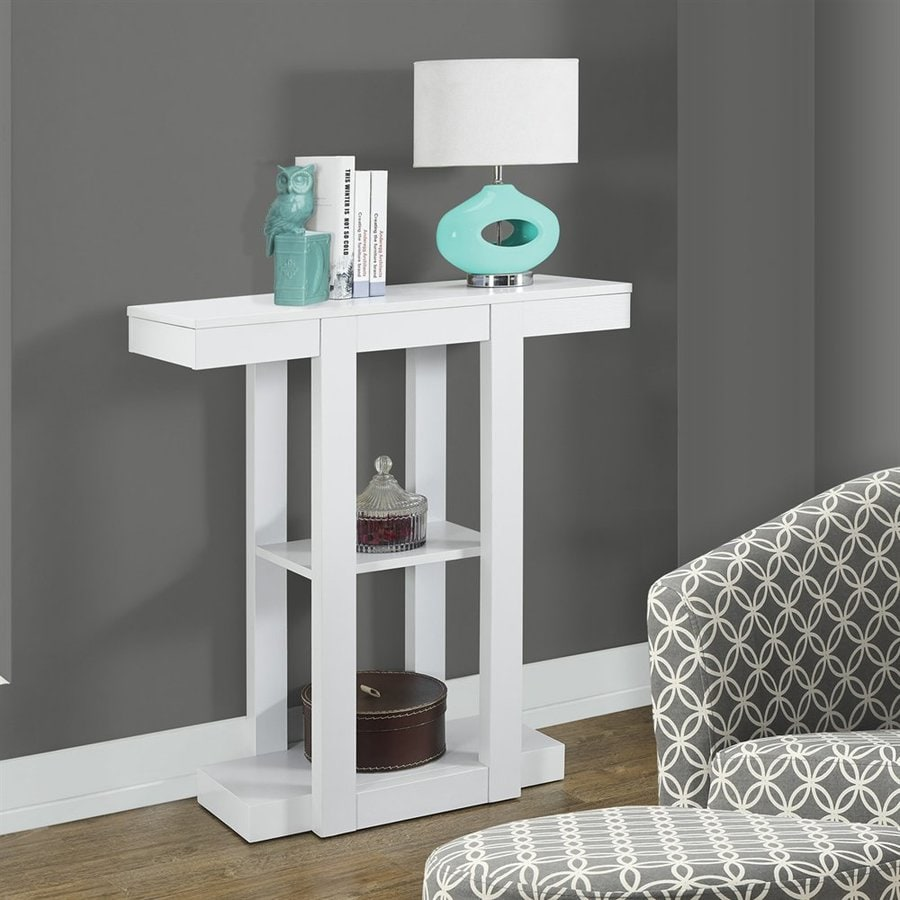 Monarch Specialties White Rectangular Console Table