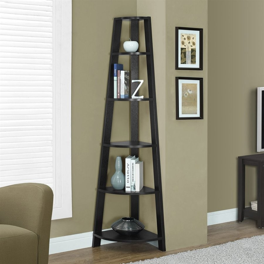 Monarch Specialties Cappuccino 5-Shelf Bookcase