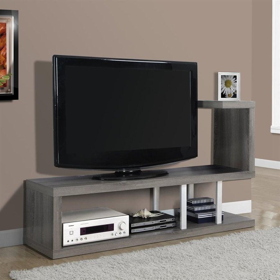 Monarch Specialties Dark Taupe Rectangular TV Cabinet