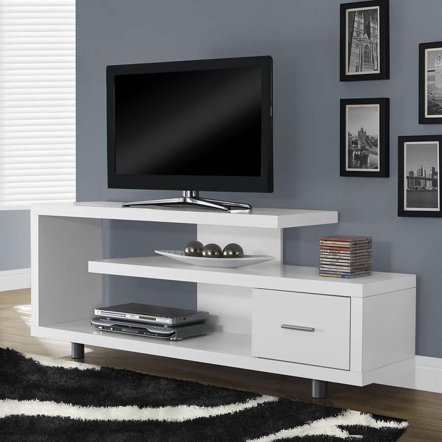 Monarch Specialties White TV Cabinet
