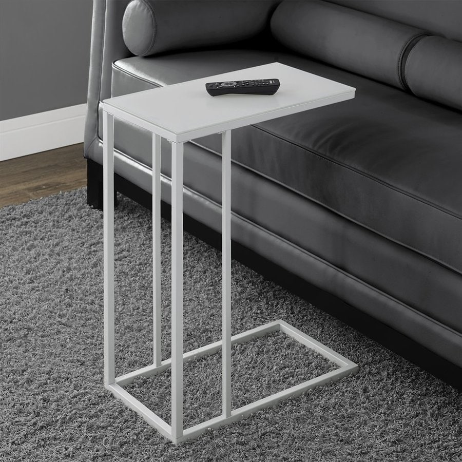 Monarch Specialties White Rectangular End Table