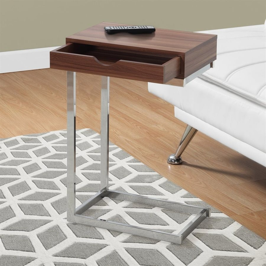 Monarch Specialties Walnut Rectangular End Table