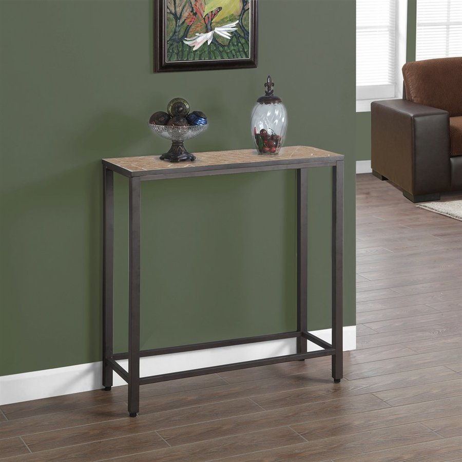 Monarch Specialties Hammered Brown Rectangular Console Table