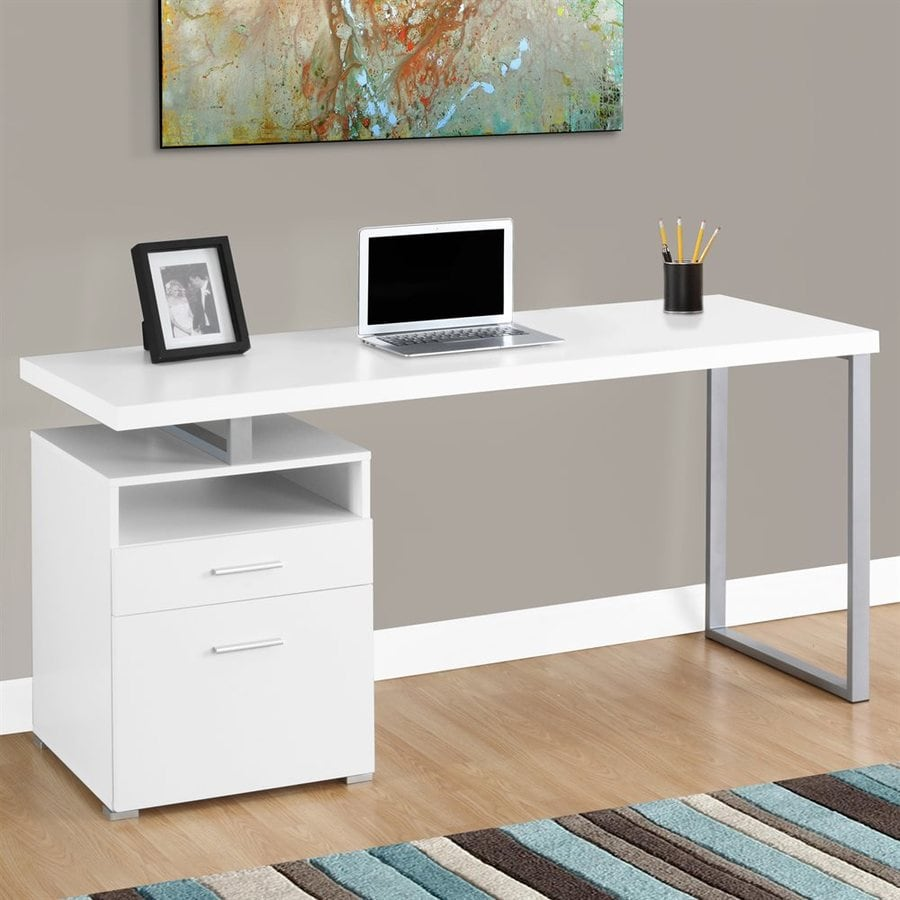 Monarch Specialties White Computer Desk