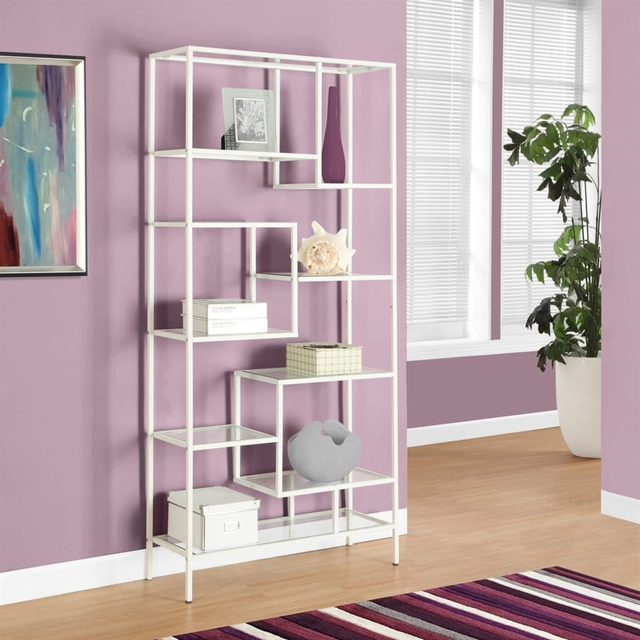 Monarch Specialties White 32-in W x 72-in H x 12-in D 9-Shelf Bookcase