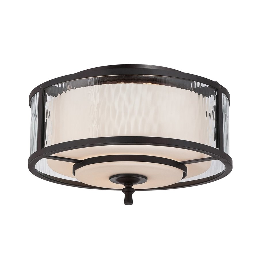Quoizel Adonis 15-in W Dark Cherry Flush Mount Light