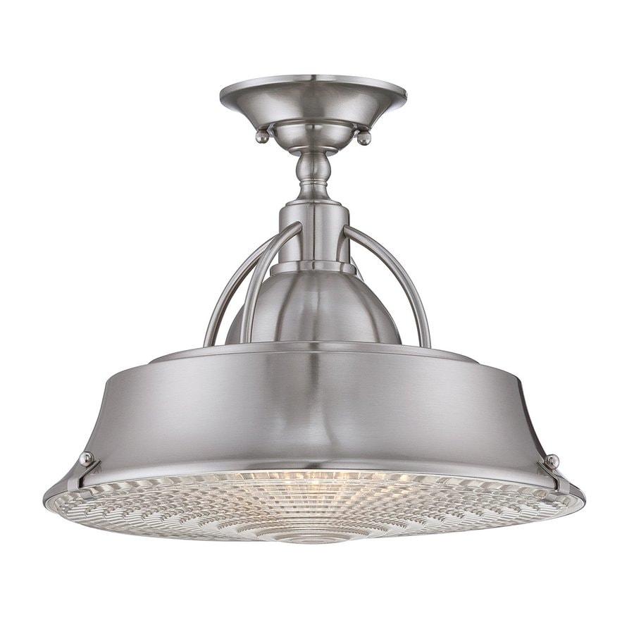 Quoizel Cody 14.5-in W Brushed Nickel Metal Semi-Flush Mount Light