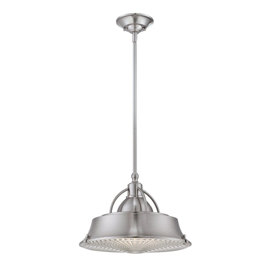 Quoizel Cody 14.5-in Brushed Nickel Industrial Single Warehouse Pendant