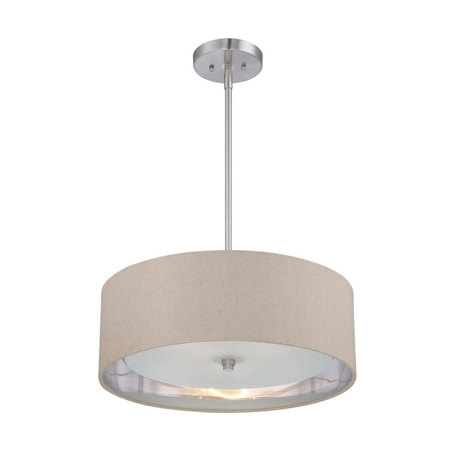 Quoizel Metro 20-in Brushed Nickel Single Drum Pendant