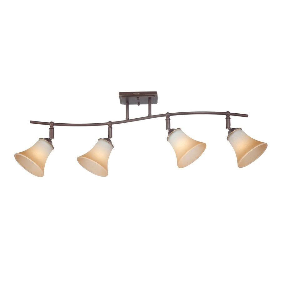 Quoizel Duchess 4-Light 36.5-in Palladian Bronze Dimmable Fixed Track Light Kit