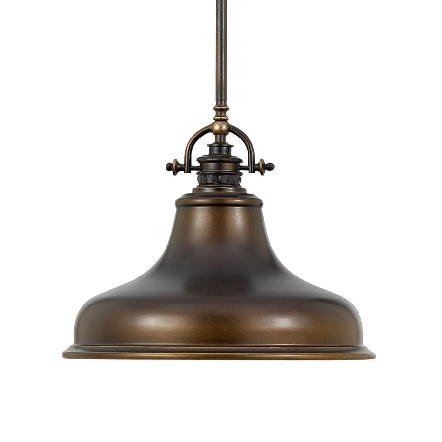 Quoizel Emery 13.5-in Palladian Bronze Industrial Single Warehouse Pendant