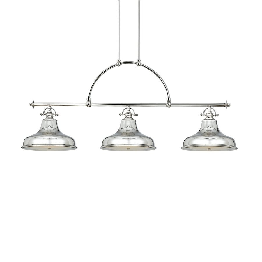 Quoizel Emery 13.5-in W 3-Light Imperial Silver Vintage Kitchen Island Light