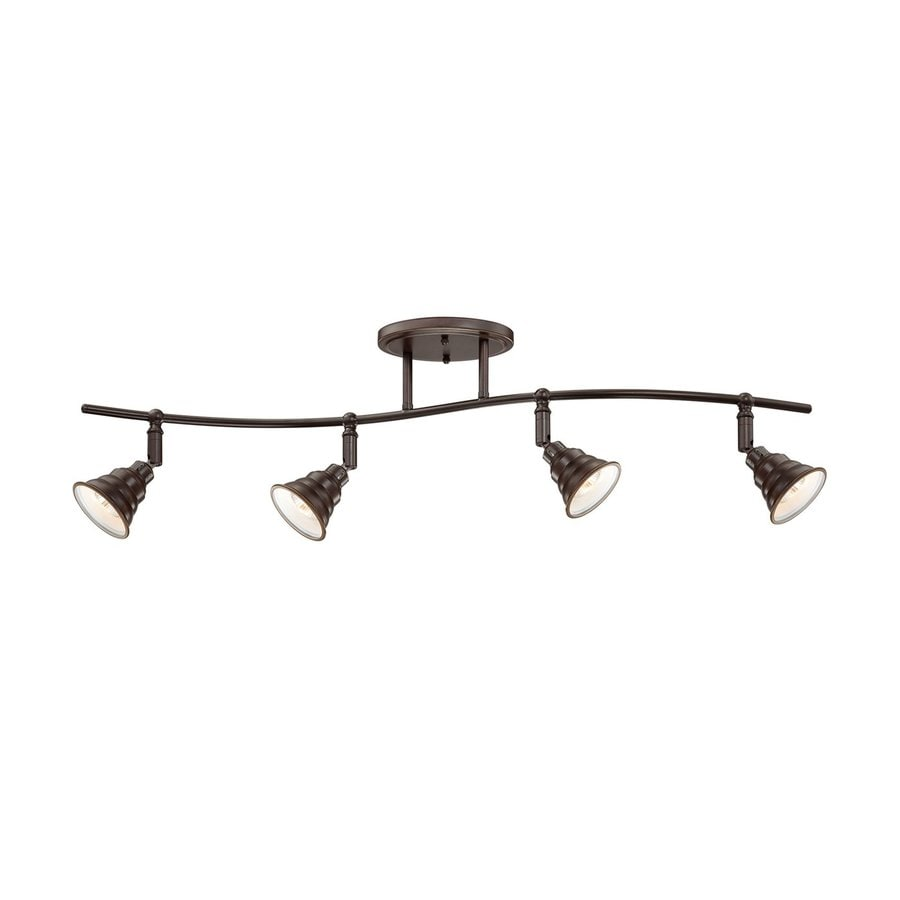 Quoizel Eastvale 4-Light 36.5-in Palladian Bronze Dimmable Fixed Track Light Kit