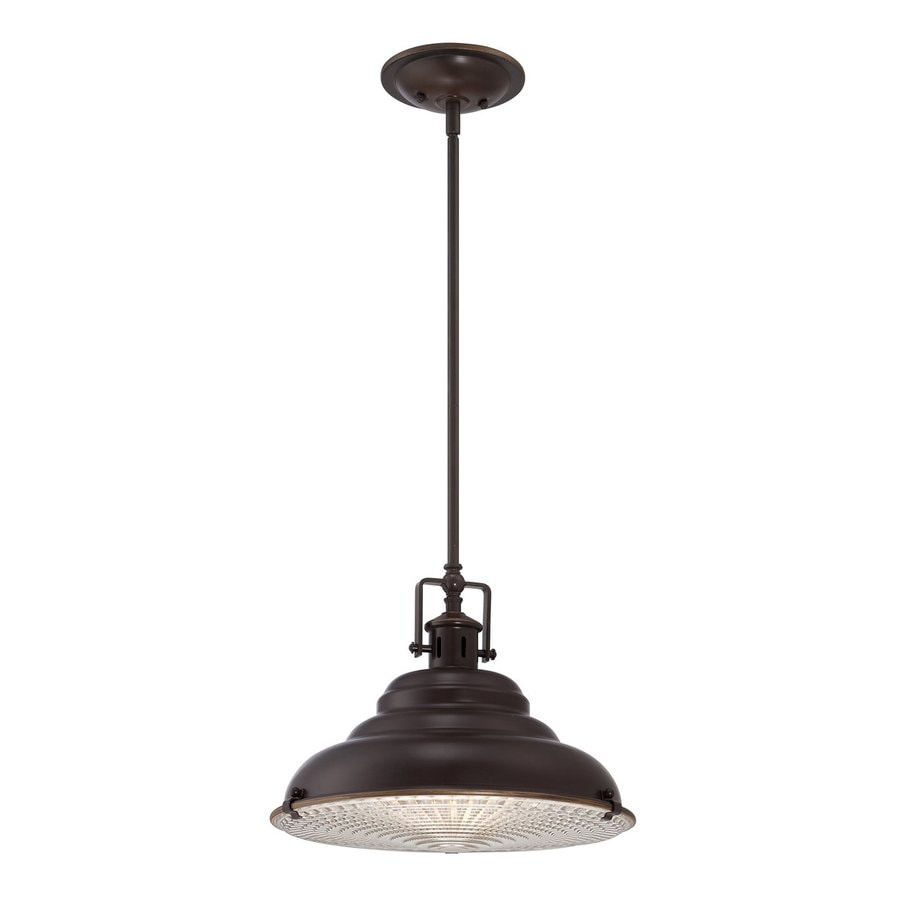 Quoizel Eastvale 14.5-in Palladian Bronze Industrial Single Warehouse Pendant