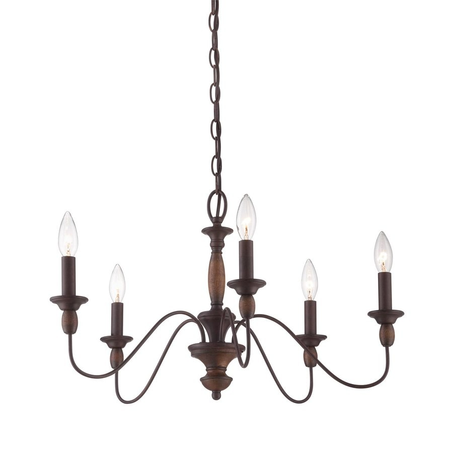 Shop quoizel holbrook 24 in 5 light tuscan brown vintage candle quoizel holbrook 24 in 5 light tuscan brown vintage candle chandelier mozeypictures Image collections