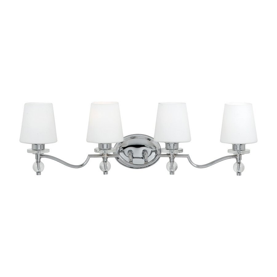 Quoizel Hollister 4-Light 9.75-in Polished Chrome Cone Vanity Light