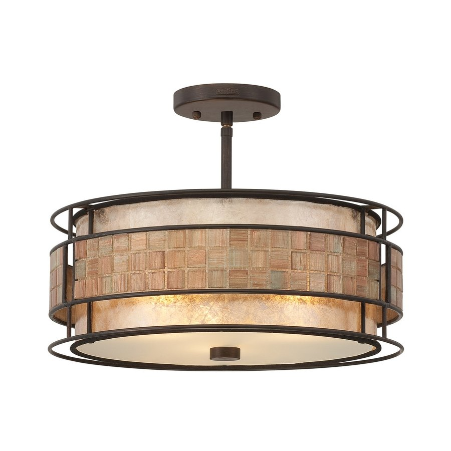 Quoizel Laguna Naturals 16-in W Renaissance Copper Mica Semi-Flush Mount Light