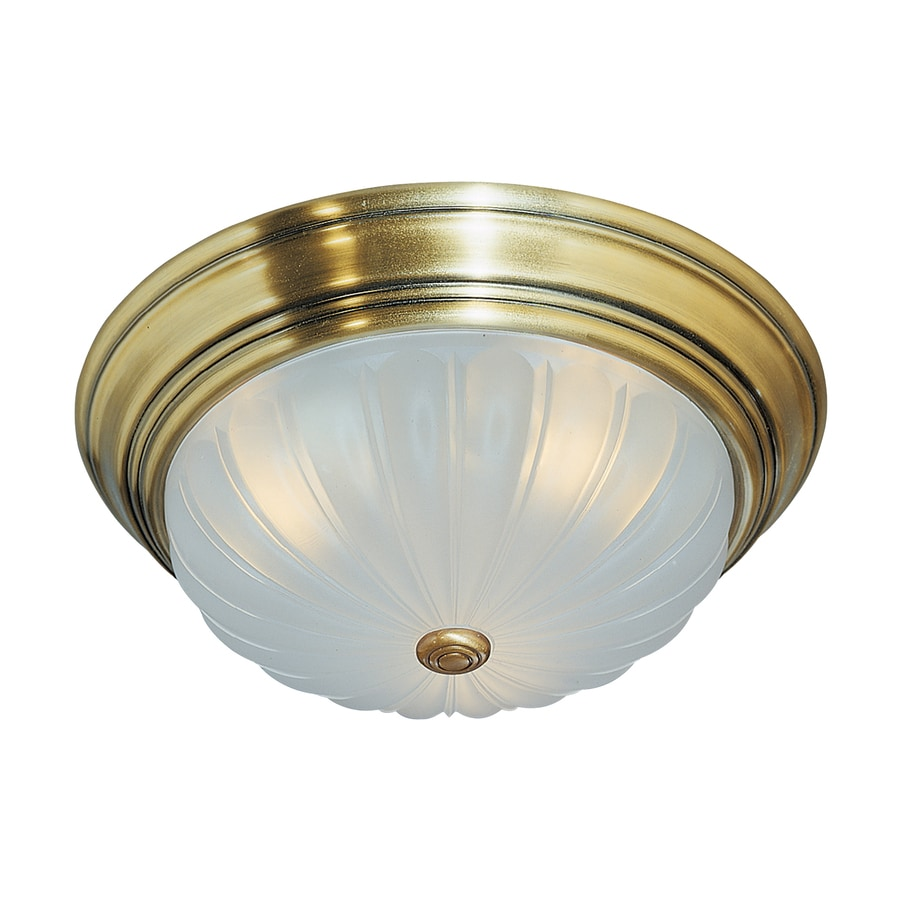 Quoizel Melon 10.5-in W Antique Brass Ceiling Flush Mount Light