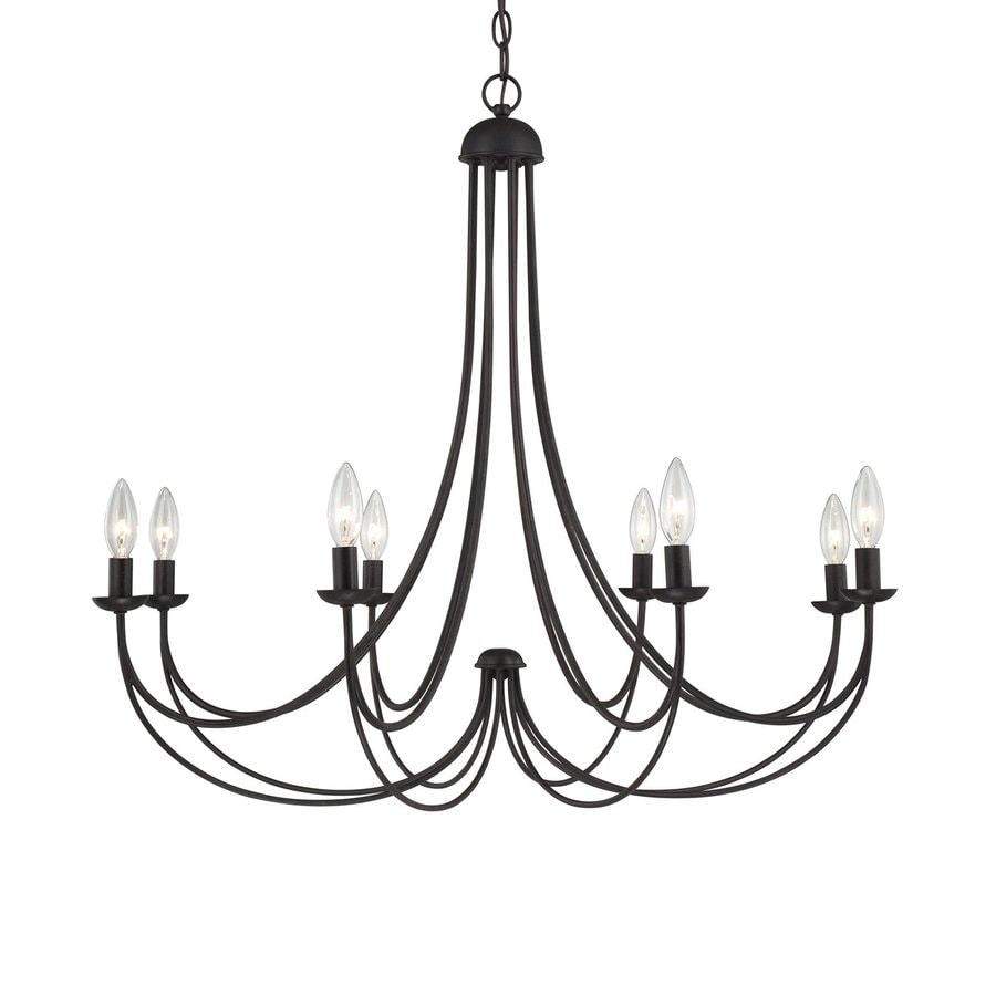Quoizel Mirren 32-in 8-Light Imperial Bronze Candle Chandelier