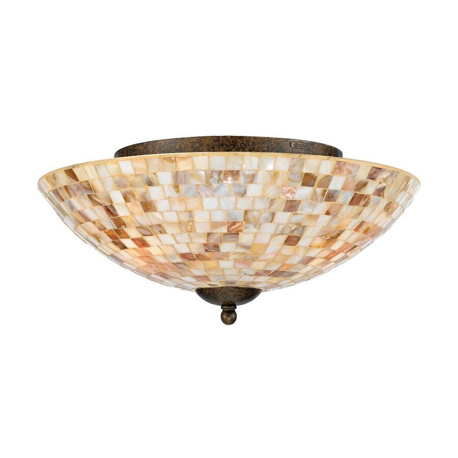 Quoizel Monterey Mosaic 16-in W Malaga Ceiling Flush Mount Light