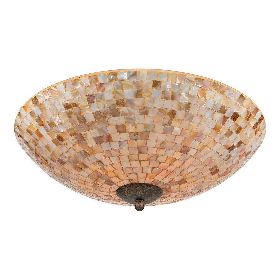 Quoizel Monterey Mosaic 18-in W Malaga Ceiling Flush Mount Light