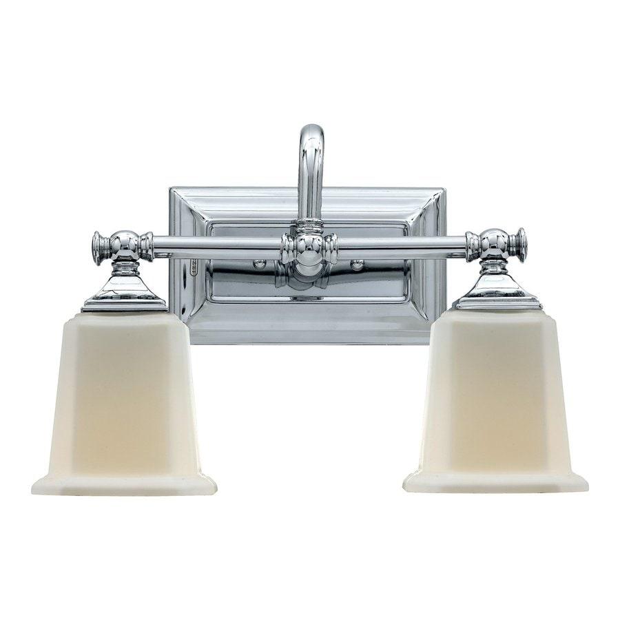Quoizel Nicholas 2-Light 10-in Polished Chrome Bell Vanity Light
