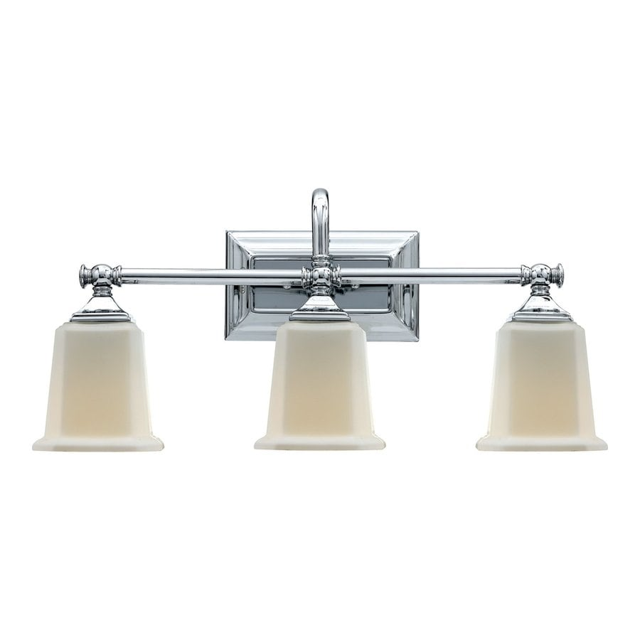 Shop Quoizel Nicholas 3-Light 10-in Polished chrome Bell Vanity Light at Lowes.com