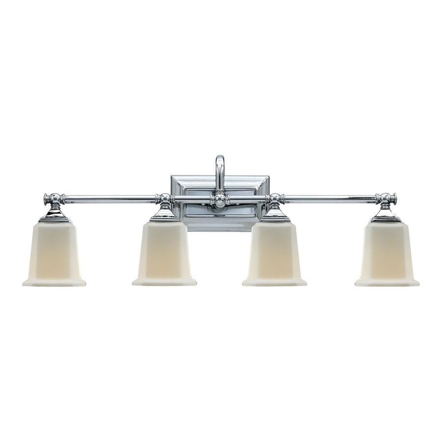 Quoizel Nicholas 4-Light 10-in Polished Chrome Bell Vanity Light