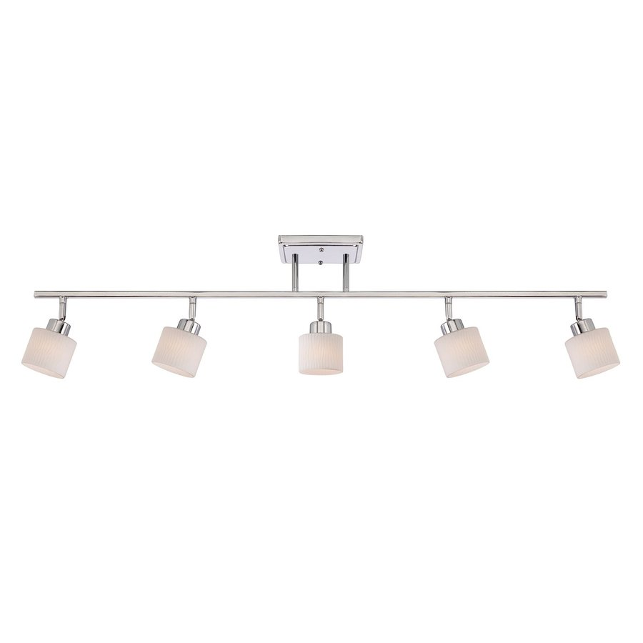 Quoizel Pacifica 5-Light 44.5-in Polished Chrome Dimmable Fixed Track Light Kit