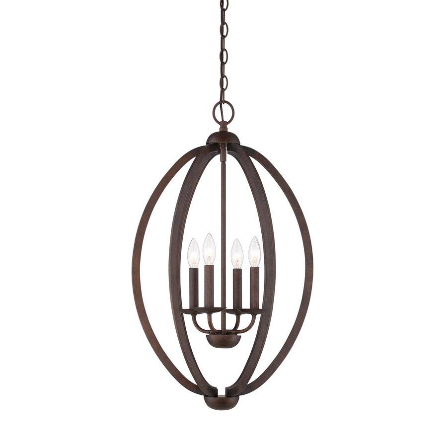 Quoizel Collins 16.5-in Museum Bronze Vintage Single Cage Pendant