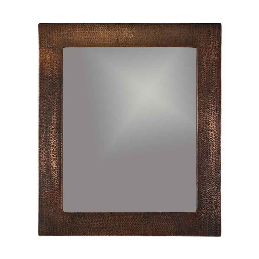 Bathroom Mirrors Bronze shop premier copper products 31-in x 36-in oil-rubbed bronze