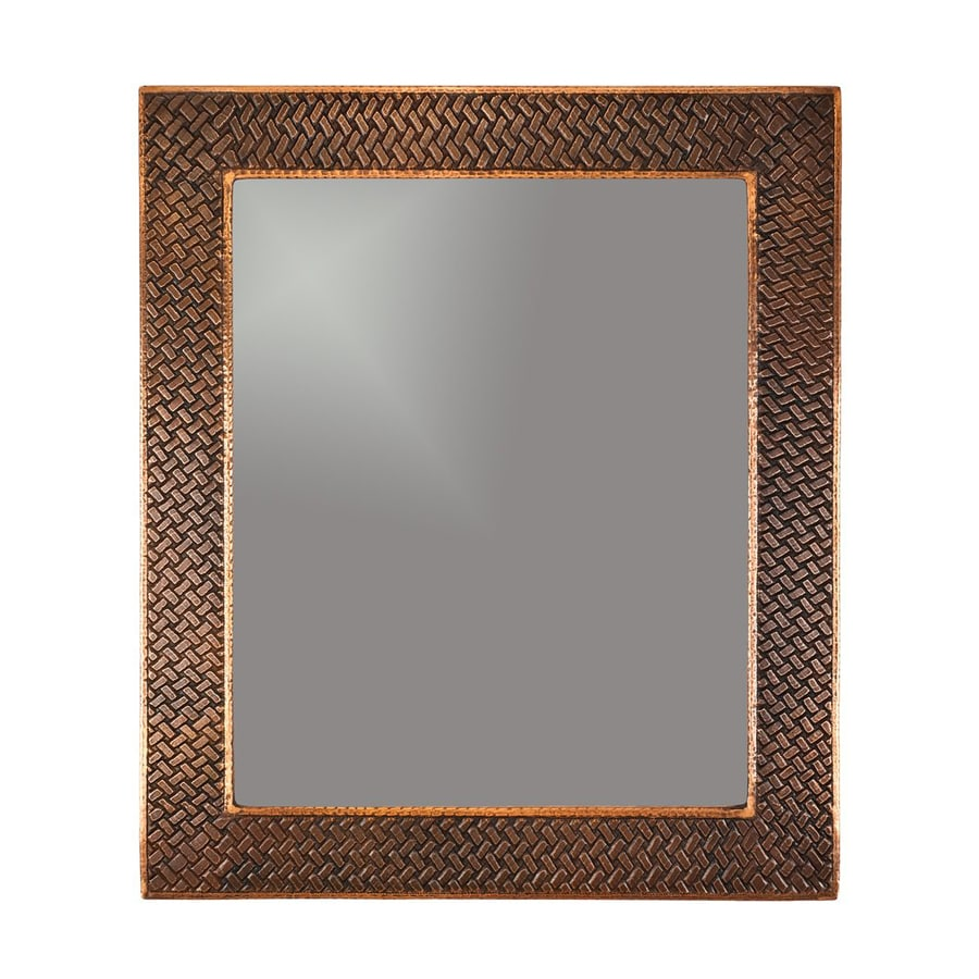 Premier Copper Products 31-in x 36-in Oil-Rubbed bronze Rectangular Framed Bathroom Mirror