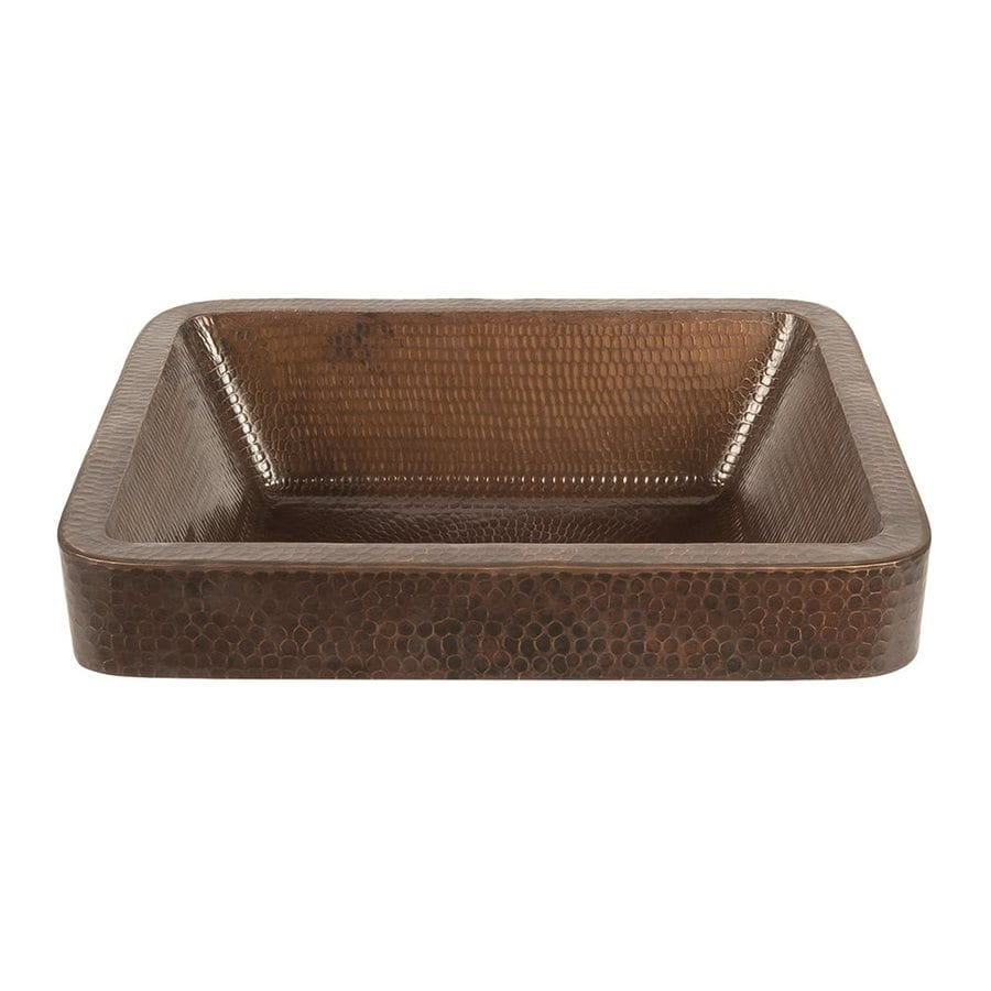 Premier Copper Products Oil-Rubbed Bronze Copper Vessel Rectangular Bathroom Sink