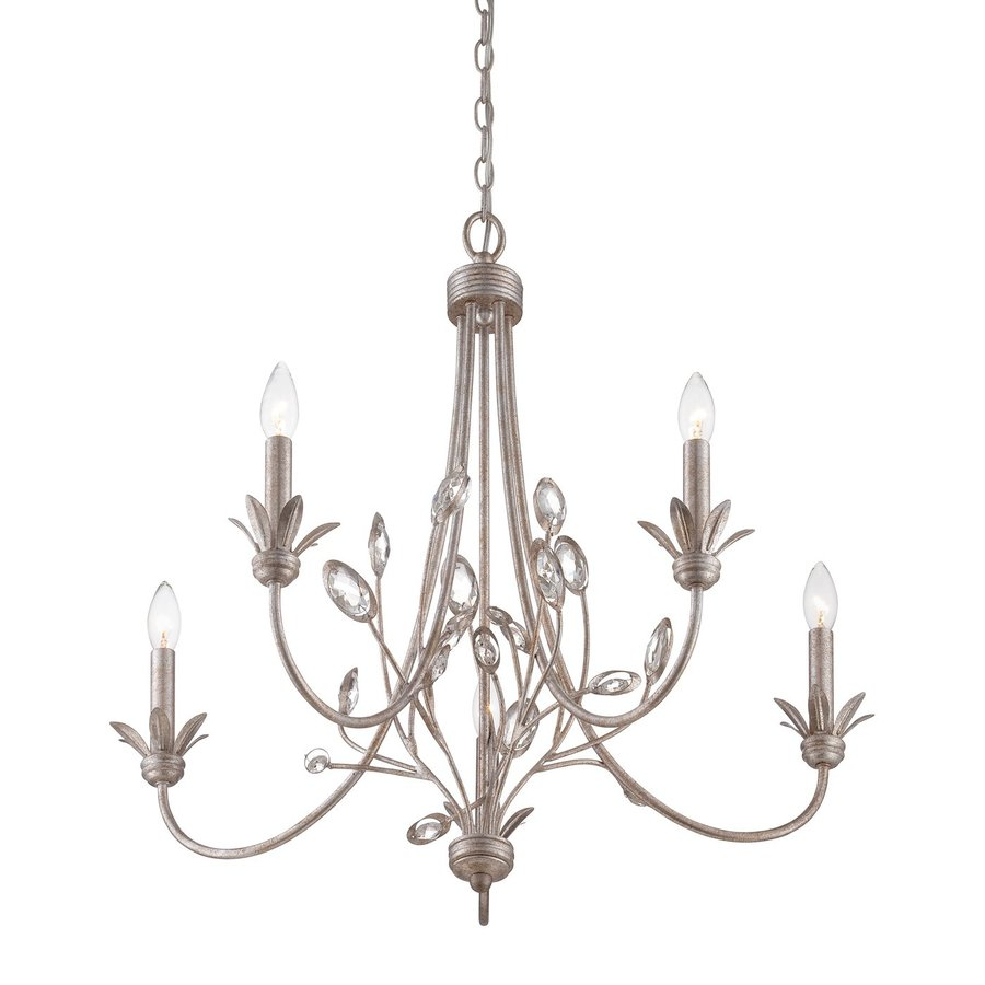 Quoizel Wesley 26-in 5-Light Italian fresco Vintage Candle Chandelier